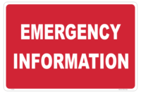 Emergency Information sign