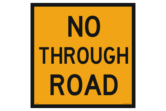 No through road sign