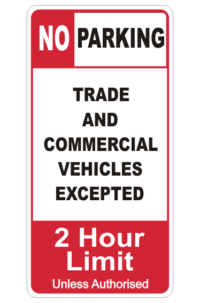Commercial Vehicles Parking sign