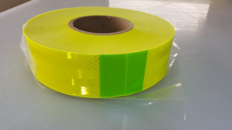 Reflective tape fluro yellow