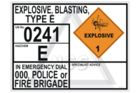 Explosive Blasting Type E transport panel