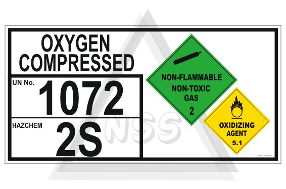 Oxygen Compressed storage panel