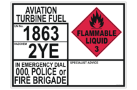 Aviation Turbine Fuel Emergency Information Panel