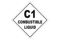 Class 1 Combustible Liquid Placard