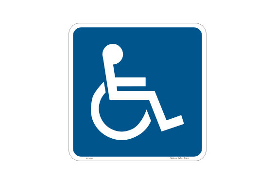 Wheelchair Access Sticker - Handicapped and Disabled Parking Signs