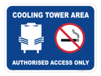 Cooling Tower Sign Authorised access only