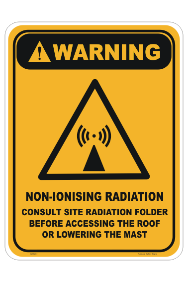 Non-Ionising radiation sign