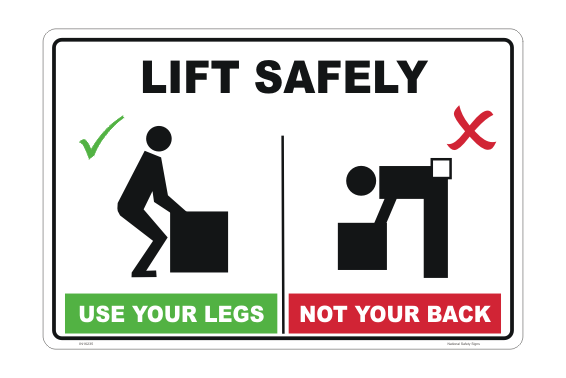How to Lift Safely Sign