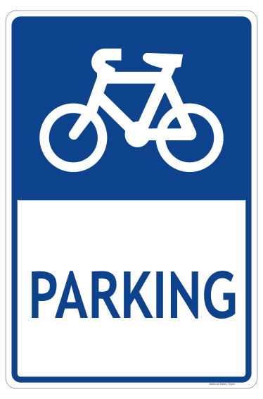 Regulatory Bicycle Parking Sign AS2890.3