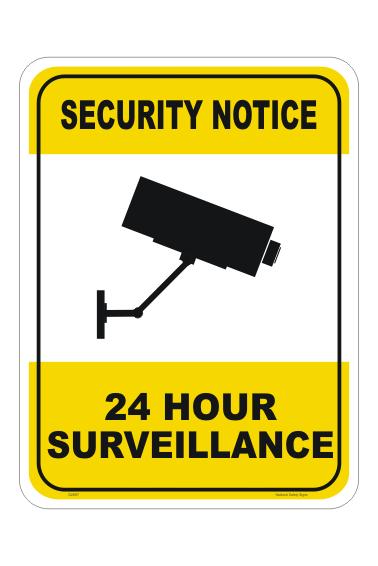 CCTV 24Hr Surveillance Sign