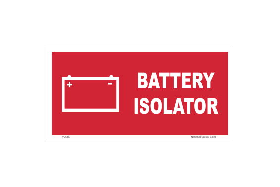 Battery Isolator Label