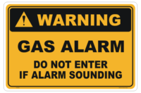 Gas Alarm sign