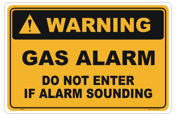 Gas Alarm sign