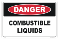 Combustible Liquids Danger Sign