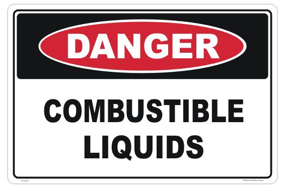 Combustible Liquids Danger Sign