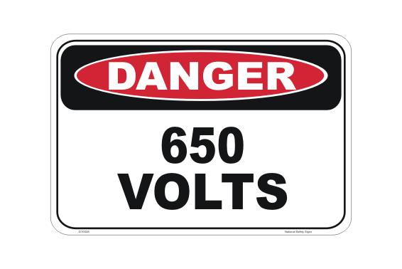 650 Volts Sign