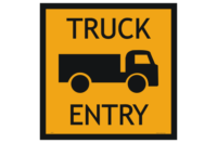 Truck Entry sign