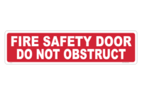 Fire Door notice sign