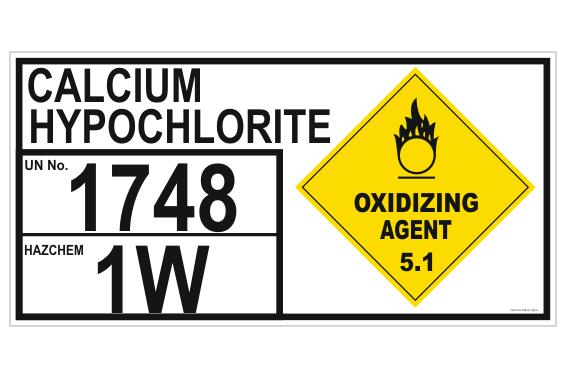 Calcium Hypochlorite UN1748 Panel