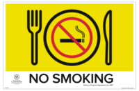 SA Dining Area Smoking Sign