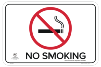 SA Health No Smoking Sign