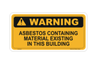 Asbestos Material Stickers