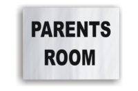 Parents Room Aluminium Sign
