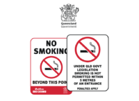 Queensland No Smoking signs
