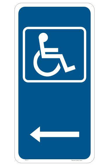Disabled Parking Sign - choose arrow