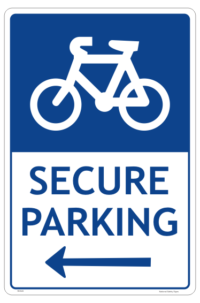 Secure Bicycle Parking Sign