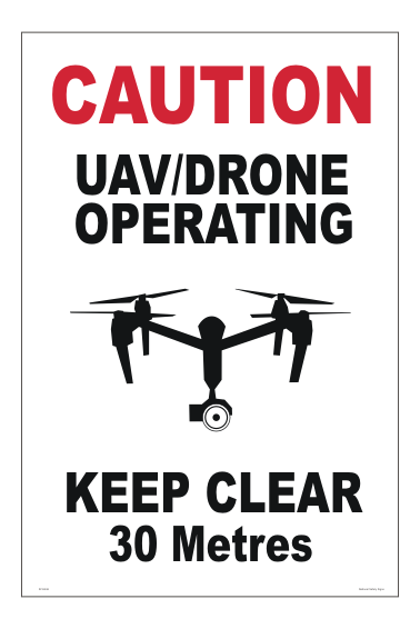 UAV Drone Sign - aerial photography