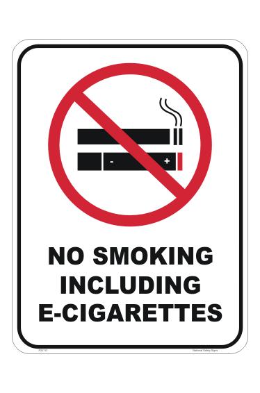 E Cigarettes smoking sign