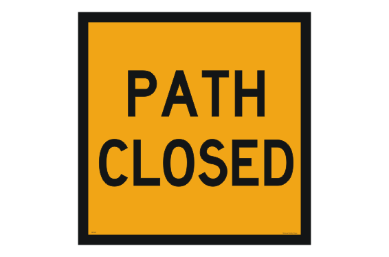 Path Closed Sign