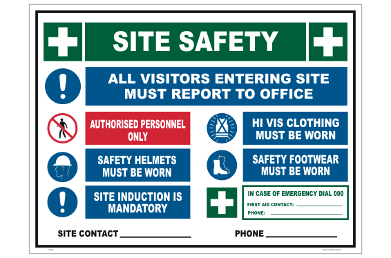 Site Safety Entry sign