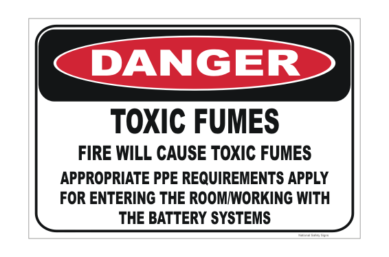 Toxic Fumes Sign