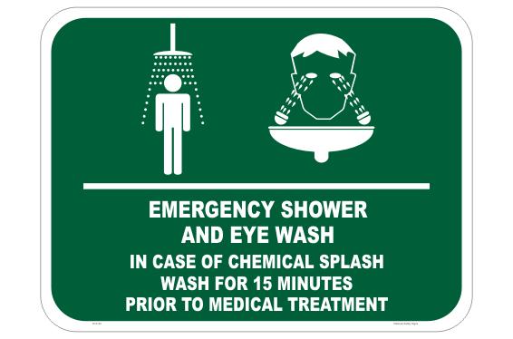 Emergency Chemical Splash sign