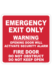 Emergency Fire Door sign