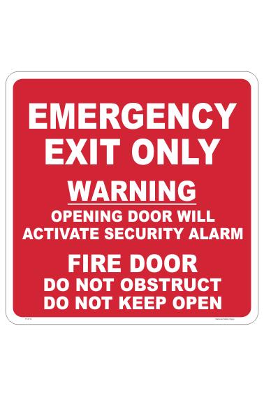 Emergency Fire Door sign