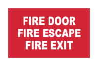 Fire Door Escape and Exit signs