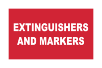 Fire Extinguishers and Markers signs