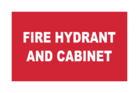 Fire Hydrant and Cabinet signs