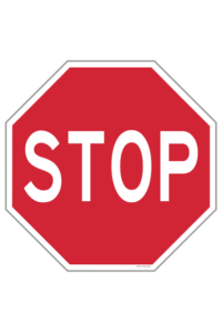 Stop Sign Non-Reflective