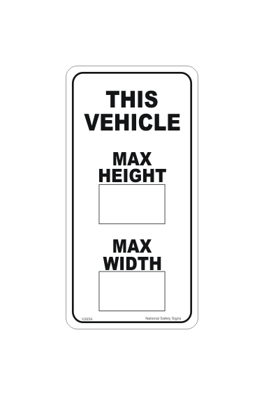 Load Height Sign