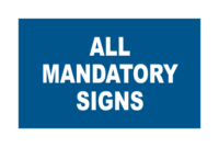 All Mandatory Signs