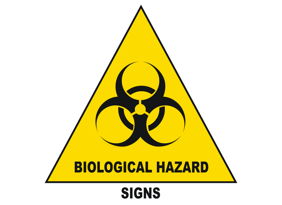 Laboratory Safety Signs - Biohazard - Biological Hazard Signs - wash your hands - covid 19