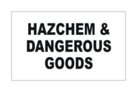 Combination HazChem and Dangerous Goods Signs