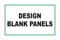 Design Blank Panel signs