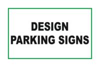 Design Parking signs