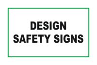 Design Safety signs