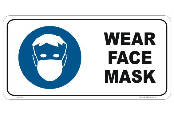 Face covering, Face Mask Mandatory Sign